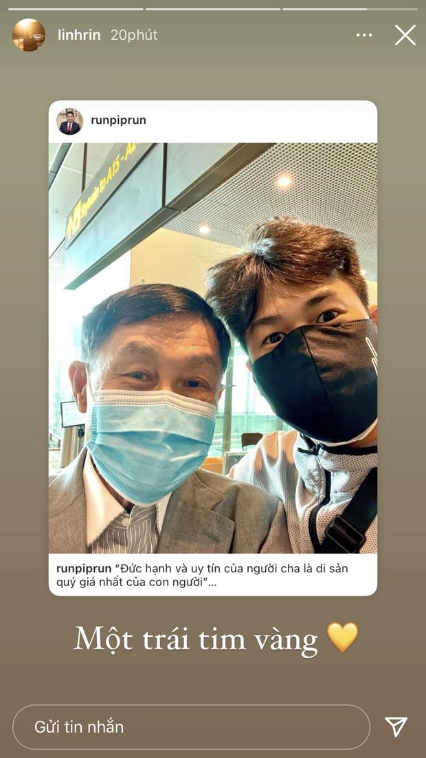 Linh Rin dùng 4 chữ để nói về bố chồng tương lai, tỷ phú Johnathan Hạnh Nguyễn biết được chắc mát lòng lắm đây - Ảnh 1.
