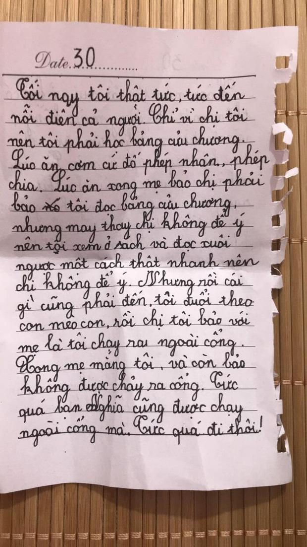 Bé gái lớp 2 viết nhật ký nói xấu cả thế giới, tự nhận ngu ngốc nhưng vẫn chốt 1 câu khiến dân tình cười ngất - Ảnh 1.