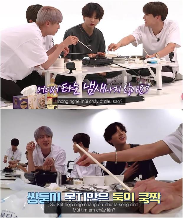 BTS thử sức với Squid Game: Biểu cảm thảng thốt của V khi chơi tách kẹo có thể phát ra âm thanh! - Ảnh 5.
