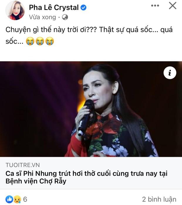 Cả showbiz Việt xót thương khi hay tin ca sĩ Phi Nhung qua đời: Lan Ngọc buồn bã, Đan Trường xúc động nói lời tiễn biệt - Ảnh 5.