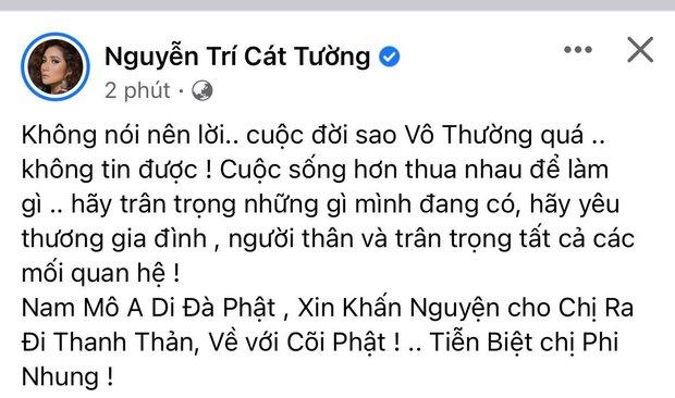 Cả showbiz Việt xót thương khi hay tin ca sĩ Phi Nhung qua đời: Lan Ngọc buồn bã, Đan Trường xúc động nói lời tiễn biệt - Ảnh 3.