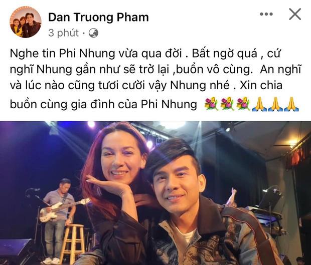 Cả showbiz Việt xót thương khi hay tin ca sĩ Phi Nhung qua đời: Lan Ngọc buồn bã, Đan Trường xúc động nói lời tiễn biệt - Ảnh 7.
