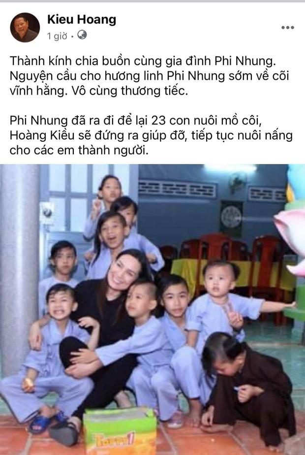Tỷ phú Hoàng Kiều thông báo sẽ thay Phi Nhung nuôi 23 đứa trẻ mồ côi và khẳng định 1 điều chắc nịch! - Ảnh 2.