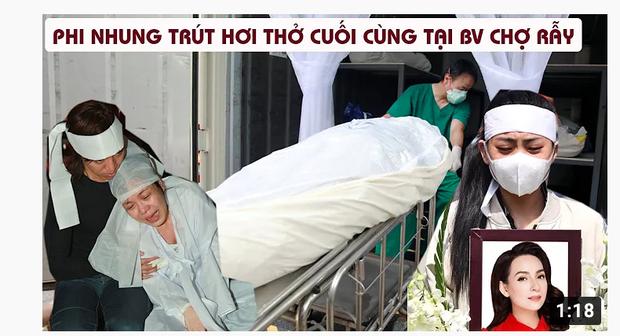 Xuất hiện hàng loạt hình ảnh, livestream giả mạo đám tang Phi Nhung trên YouTube, hãy là một người dùng MXH thông minh! - Ảnh 3.