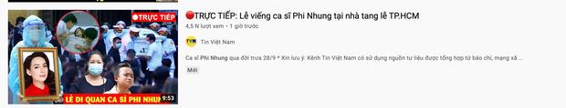 Xuất hiện hàng loạt hình ảnh, livestream giả mạo đám tang Phi Nhung trên YouTube, hãy là một người dùng MXH thông minh! - Ảnh 8.