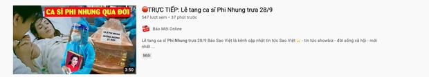 Xuất hiện hàng loạt hình ảnh, livestream giả mạo đám tang Phi Nhung trên YouTube, hãy là một người dùng MXH thông minh! - Ảnh 9.