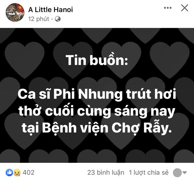 Dân mạng bàng hoàng khi nghe tin ca sĩ Phi Nhung qua đời: Chia tay cô, người mẹ của rất nhiều em nhỏ! - Ảnh 5.