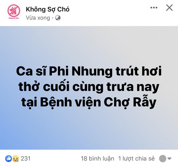 Dân mạng bàng hoàng khi nghe tin ca sĩ Phi Nhung qua đời: Chia tay cô, người mẹ của rất nhiều em nhỏ! - Ảnh 6.