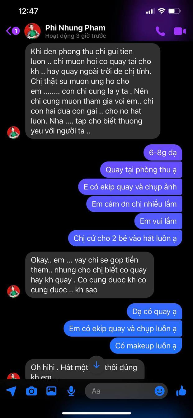 Tính cách ca sĩ Phi Nhung lộ rõ qua loạt tin nhắn chưa từng công bố với 1 nhạc sĩ khi sinh thời  - Ảnh 4.