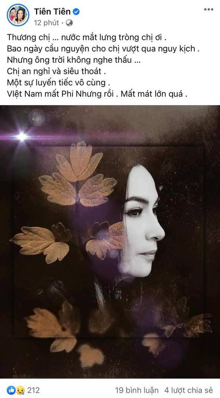 Dân mạng bàng hoàng khi nghe tin ca sĩ Phi Nhung qua đời: Chia tay cô, người mẹ của rất nhiều em nhỏ! - Ảnh 3.