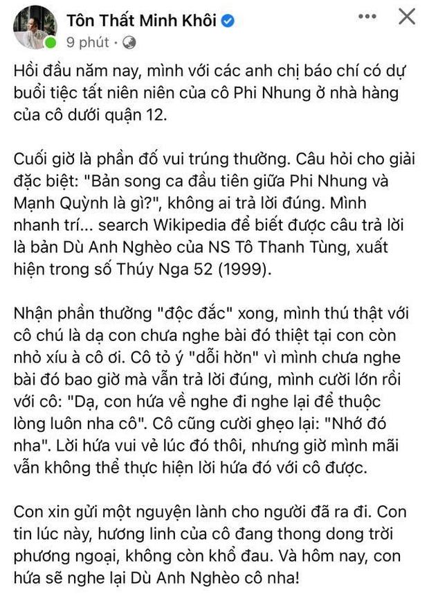 Dân mạng bàng hoàng khi nghe tin ca sĩ Phi Nhung qua đời: Chia tay cô, người mẹ của rất nhiều em nhỏ! - Ảnh 8.