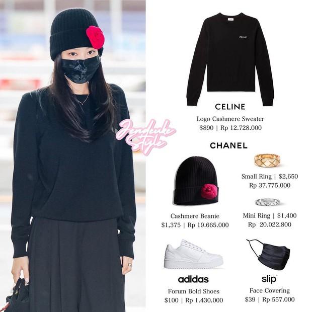 HOT: Ninja Jennie tái xuất ở sân bay lên đường tham dự Paris Fashion Week, mặc đồ bình dân hẳn so với 2 thành viên trước, danh tính chiếc túi mới là điều bất ngờ - Ảnh 5.