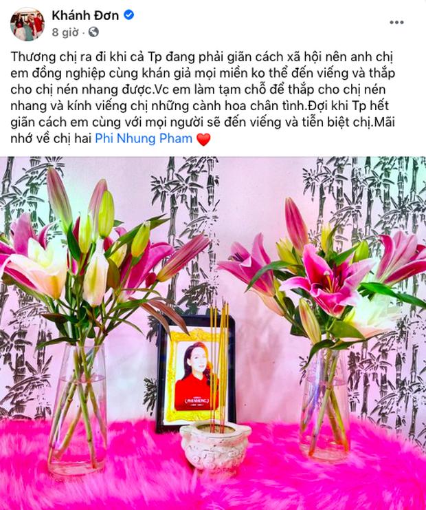 Vợ chồng Khánh Đơn lập di ảnh viếng NS Phi Nhung tại nhà, xót xa khi nhớ về đàn chị thân thiết - Ảnh 4.