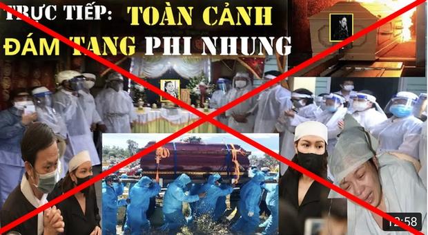 Tràn lan hình ảnh, livestream giả lễ tang Phi Nhung trên MXH, người quá cố bị đem ra bàn tán gây phẫn nộ - Ảnh 4.