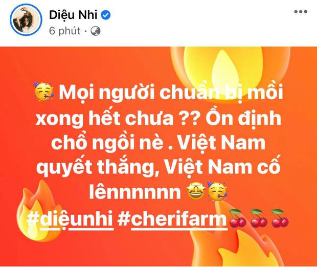 Cả showbiz Việt tiếp lửa cho tuyển Việt Nam trước giờ G: Anh Đức chuẩn bị mồi ngon sẵn sàng, hội Hoa hậu chiếm spotlight - Ảnh 11.