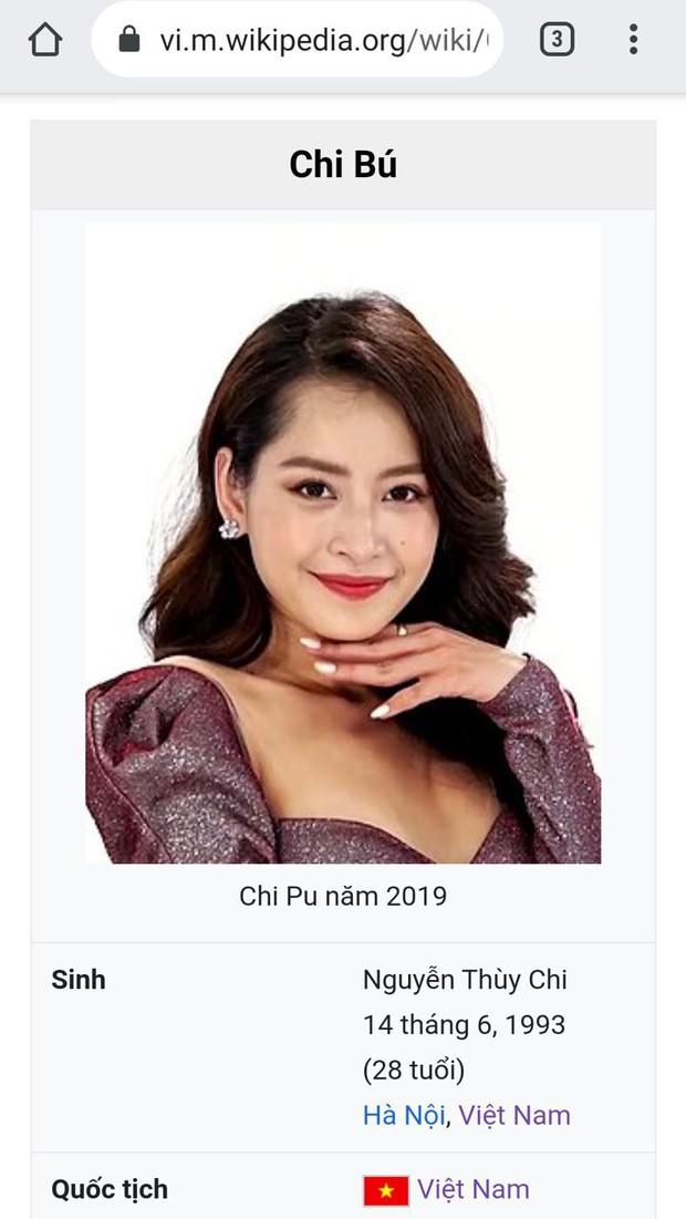 Đang yên đang lành, Chi Pu bất ngờ bị đổi nghệ danh thô tục trên Wikipedia - Ảnh 1.