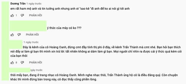 Netizen lại ùa vào đòi sao kê khi thấy Trấn Thành bình luận dưới kênh YouTube của danh ca Hoàng Oanh - Ảnh 4.