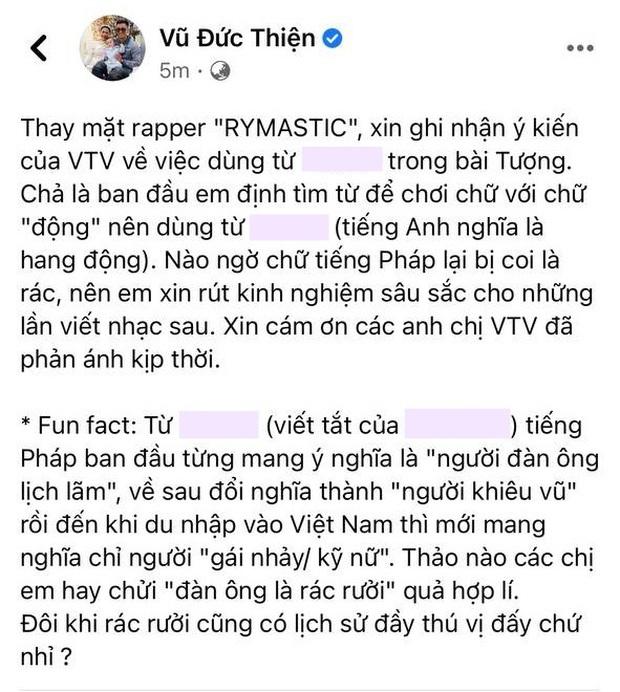 Rhymastic đã cho bay màu bài đăng phản biện VTV, netizen phản ứng gắt với HLV Rap Việt vì phát ngôn thiếu chuẩn mực - Ảnh 2.