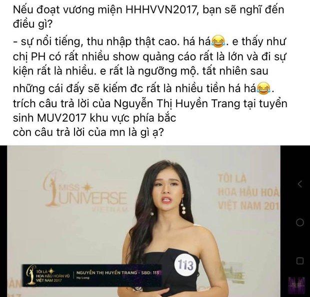 Bạn gái cũ Trọng Đại bỗng bị đào lại phát ngôn: Muốn như Phạm Hương, làm Hoa hậu để kiếm nhiều show, nhiều tiền - Ảnh 5.