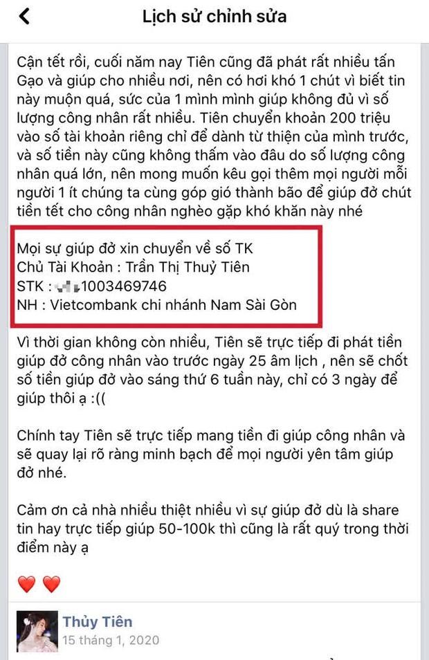 Netizen soi Thuỷ Tiên sử dụng 3 số tài khoản ngân hàng kêu gọi từ thiện nhưng chỉ sao kê 1, thực hư là gì? - Ảnh 4.