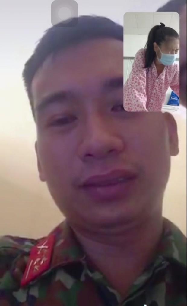 Xúc động hình ảnh chiến sĩ bộ đội rơi nước mắt gọi video call, nhìn vợ đau đớn chuẩn bị vào phòng sinh mà không thể về vì dịch - Ảnh 4.