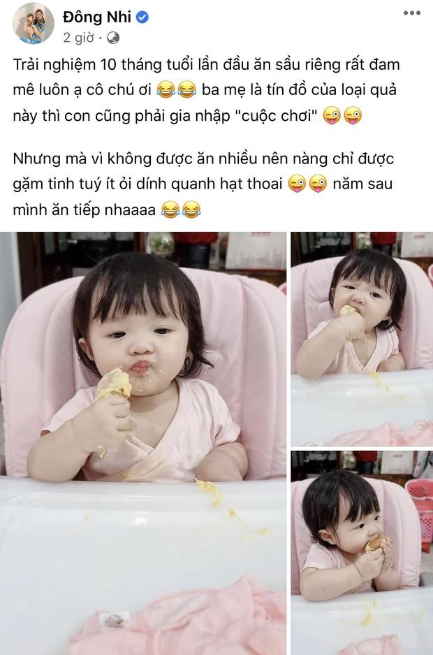 Con gái Đông Nhi lần đầu thưởng thức món trái cây thơm nức mũi kén người ăn, nhìn thòm thèm mà cưng xỉu - Ảnh 2.