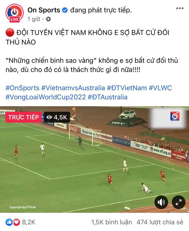 Fanpage On Sports gây phẫn nộ khi fake kêu gọi xem trận Việt Nam - Australia nhưng chỉ phát lại các trận đấu cũ, đánh lừa người hâm mộ để tải ứng dụng? - Ảnh 1.