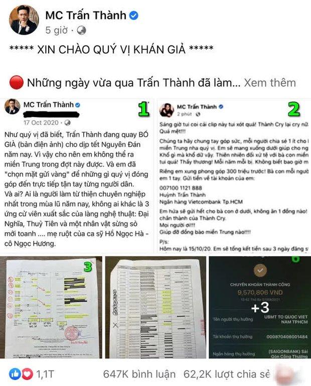 Netizen soi bằng được 1 chi tiết bất hợp lý trong sao kê, Trấn Thành lập tức lên tiếng: Coi kỹ dùm Thành! - Ảnh 5.