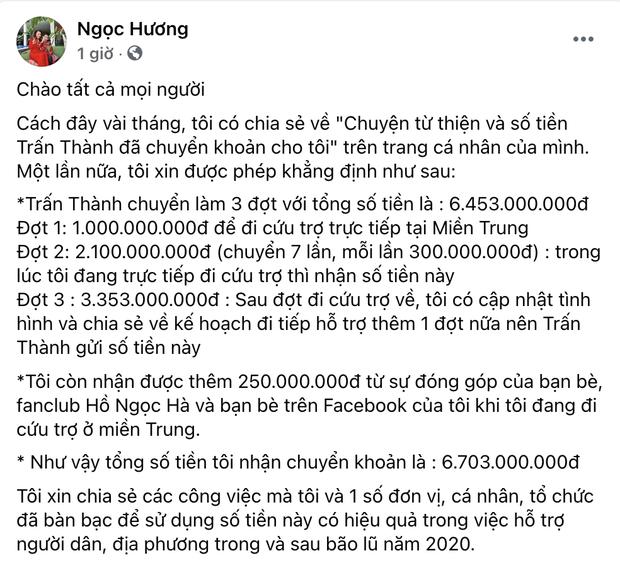 Mẹ ruột Hà Hồ khẳng định không ăn chặn tiền từ thiện kèm bằng chứng, làm rõ số tiền quyên góp của Trấn Thành - Ảnh 2.