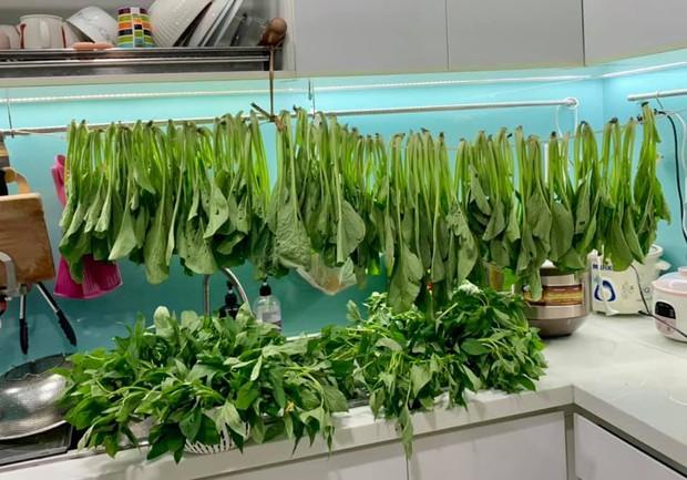 Mẹ bỉm Sài Gòn có tips bảo quản thực phẩm mùa dịch cực khoa học, thú vị nhất là tiết mục phơi rau - Ảnh 2.