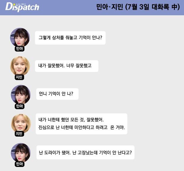 Dispatch tung 128 phút ghi âm bóc trần vụ bắt nạt chấn động: Nạn nhân Mina (AOA) giả dối, dồn ép Jimin, bị quản lý tố đáng sợ - Ảnh 9.