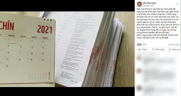 MC Phan Anh tung 6,5kg sao kê 24 tỷ kêu gọi cứu trợ miền Trung năm 2016, chấp nhận bị kiện nếu phát hiện dấu hiệu ăn chặn! - Ảnh 4.