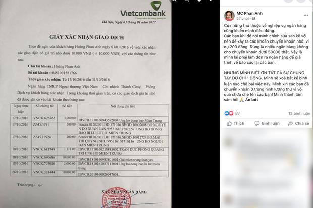 MC Phan Anh tung 6,5kg sao kê 24 tỷ kêu gọi cứu trợ miền Trung năm 2016, chấp nhận bị kiện nếu phát hiện dấu hiệu ăn chặn! - Ảnh 6.