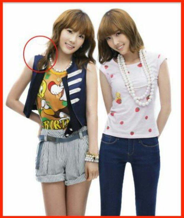 Những pha photoshop đi vào lòng đất: Ở đâu chui ra 1 bàn tay lạ khoác vai Taeyeon, chị đại CL có hẳn 3 bàn chân - Ảnh 7.