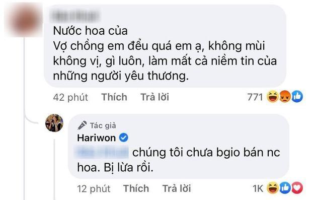 Bị netizen tố bán nước hoa đểu, gây mất niềm tin, Hari Won lập tức lên tiếng khẳng định 1 điều - Ảnh 2.