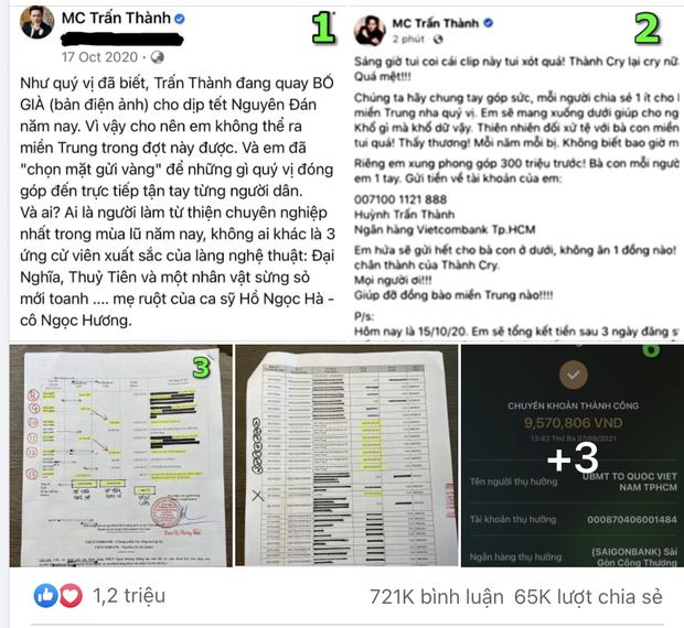 Người nhà Trấn Thành có động thái chia sẻ bài đăng sao kê của Vietcombank, khẳng định ai thích mơ thì không giải thích nổi - Ảnh 3.