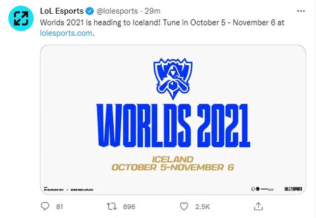 CHÍNH THỨC: Riot Games ấn định ngày CKTG 2021 khởi tranh, VCS không thể tham dự - Ảnh 1.