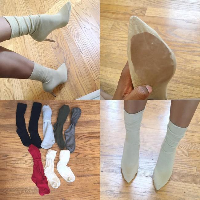 Thay vì bỏ 20 triệu mua boots Yeezy, các cô nàng thi nhau tự chế boots từ tất đẹp chẳng kém - Ảnh 5.