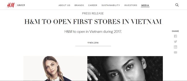 H&M thông báo về Việt Nam, mở điểm đầu tiên tại Thảo Điền Q.2 Sài Gòn - Ảnh 1.