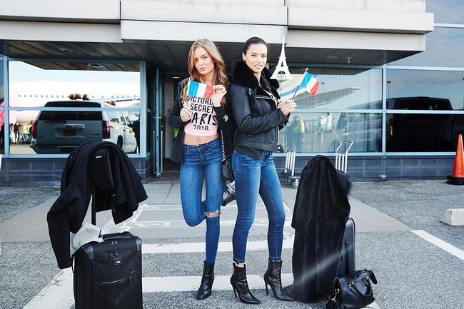 Dàn thiên thần Victorias Secret tưng bừng lên đường sang Paris chuẩn bị cho VSFS 2016 - Ảnh 4.