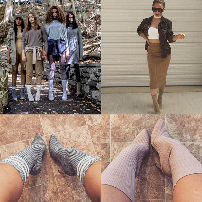 Thay vì bỏ 20 triệu mua boots Yeezy, các cô nàng thi nhau tự chế boots từ tất đẹp chẳng kém - Ảnh 11.