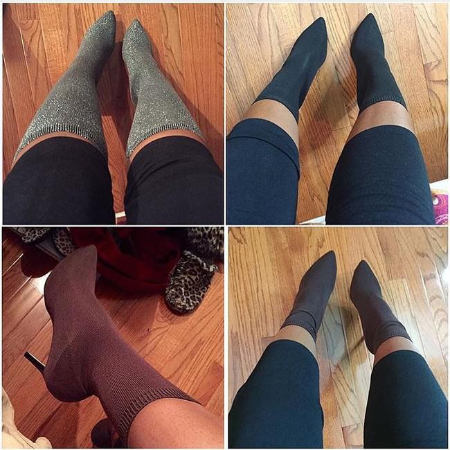 Thay vì bỏ 20 triệu mua boots Yeezy, các cô nàng thi nhau tự chế boots từ tất đẹp chẳng kém - Ảnh 12.