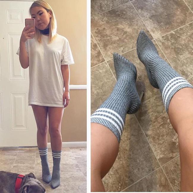 Thay vì bỏ 20 triệu mua boots Yeezy, các cô nàng thi nhau tự chế boots từ tất đẹp chẳng kém - Ảnh 13.