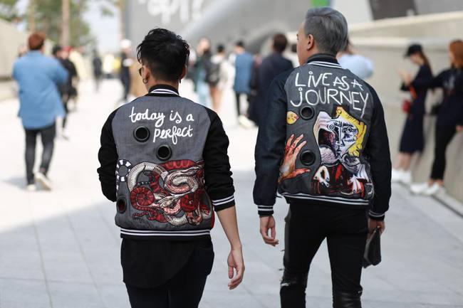 Châu Bùi & Cao Minh Thắng ton-sur-ton, Min diện quần một mất một còn tại Seoul Fashion Week ngày 3 - Ảnh 5.
