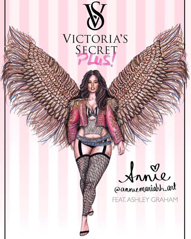 Mẫu béo Ashley Graham muốn làm thiên thần Victorias Secret, Bella Hadid từng bị đánh trượt khỏi show năm ngoái - Ảnh 2.