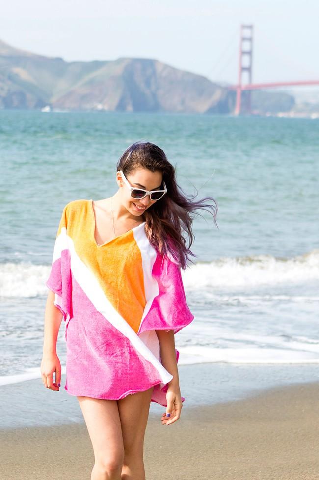 Ai đang định đi biển thì bỏ túi ngay cách làm áo khoác tắm siêu tiện này thôi! - Ảnh 11.