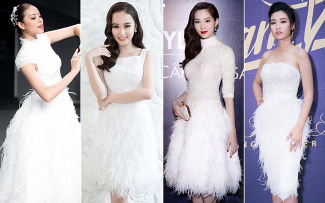 Cùng kiểu đầm thiên nga trắng: Angela Phương Trinh và 3 nàng Hậu, ai mặc đẹp nhất? - Ảnh 9.