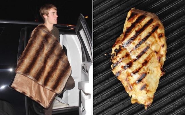 Có một sự giống không hề nhẹ! Chăn lông sang chảnh của Justin Bieber bị ví như món ức gà nướng - Ảnh 3.