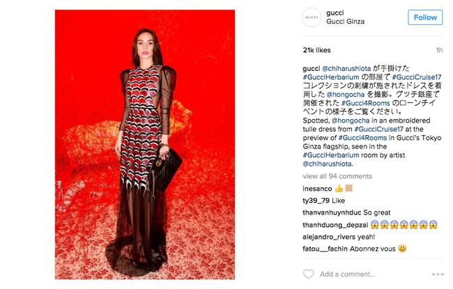 Chẳng nói chẳng rằng, Hồ Ngọc Hà cứ thế mà chễm chệ trên Instagram của Gucci - Ảnh 3.