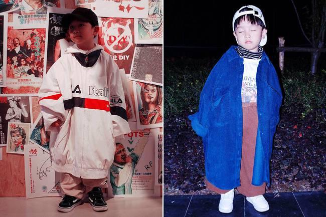 Cậu nhóc 4 tuổi chuyên lấy quần áo của bố diện thành đồ phong cách retro siêu độc đáo - Ảnh 7.
